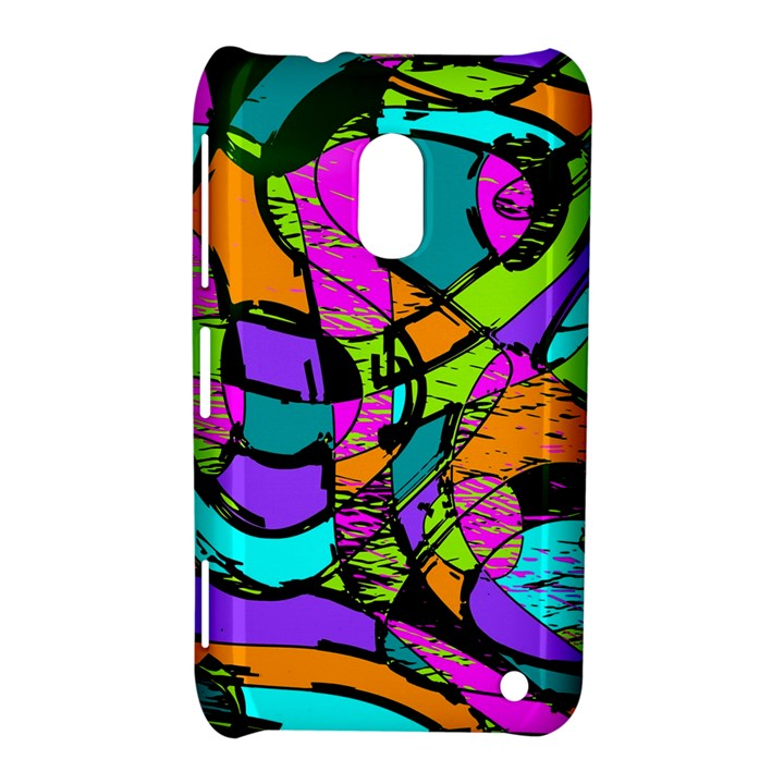 Abstract Sketch Art Squiggly Loops Multicolored Nokia Lumia 620