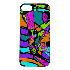 Abstract Sketch Art Squiggly Loops Multicolored Apple iPhone 5S/ SE Hardshell Case