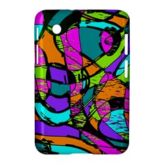 Abstract Sketch Art Squiggly Loops Multicolored Samsung Galaxy Tab 2 (7 ) P3100 Hardshell Case
