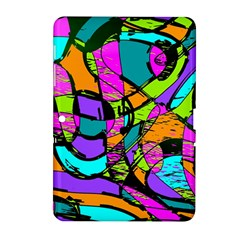 Abstract Sketch Art Squiggly Loops Multicolored Samsung Galaxy Tab 2 (10 1 ) P5100 Hardshell Case