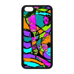 Abstract Sketch Art Squiggly Loops Multicolored Apple Iphone 5c Seamless Case (black)