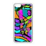 Abstract Sketch Art Squiggly Loops Multicolored Apple iPhone 5C Seamless Case (White) Front