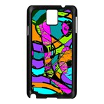 Abstract Sketch Art Squiggly Loops Multicolored Samsung Galaxy Note 3 N9005 Case (Black) Front