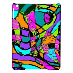 Abstract Sketch Art Squiggly Loops Multicolored Ipad Air Hardshell Cases