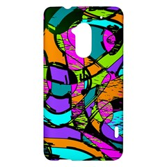 Abstract Sketch Art Squiggly Loops Multicolored HTC One Max (T6) Hardshell Case