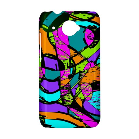 Abstract Sketch Art Squiggly Loops Multicolored HTC Desire 601 Hardshell Case