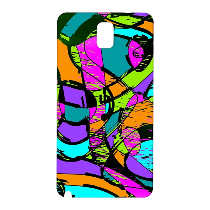 Abstract Sketch Art Squiggly Loops Multicolored Samsung Galaxy Note 3 N9005 Hardshell Back Case