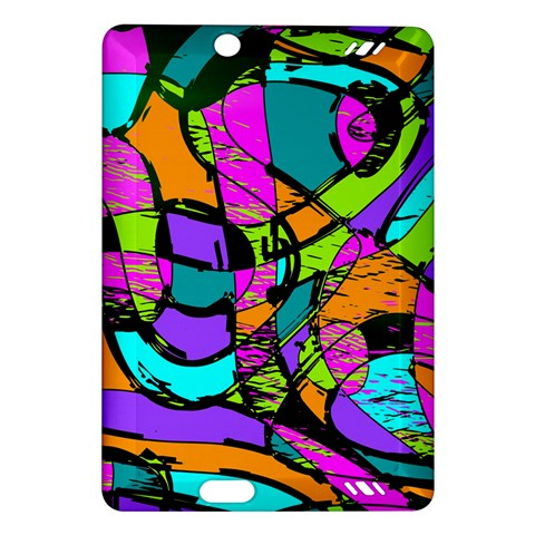 Abstract Sketch Art Squiggly Loops Multicolored Amazon Kindle Fire HD (2013) Hardshell Case