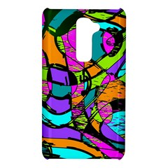 Abstract Sketch Art Squiggly Loops Multicolored LG G2