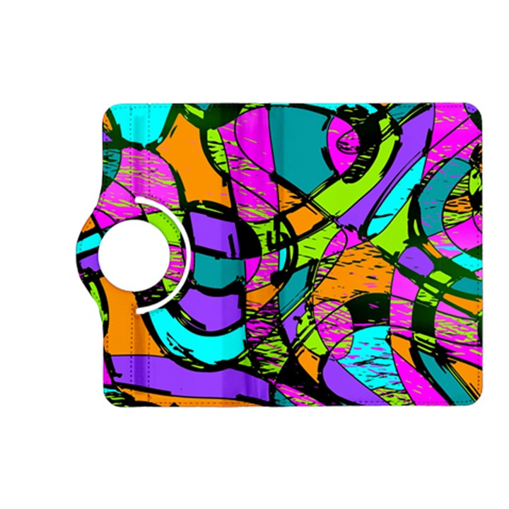 Abstract Sketch Art Squiggly Loops Multicolored Kindle Fire HD (2013) Flip 360 Case