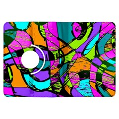 Abstract Sketch Art Squiggly Loops Multicolored Kindle Fire Hdx Flip 360 Case