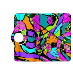 Abstract Sketch Art Squiggly Loops Multicolored Kindle Fire Hdx 8 9  Flip 360 Case