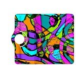 Abstract Sketch Art Squiggly Loops Multicolored Kindle Fire HDX 8.9  Flip 360 Case Front