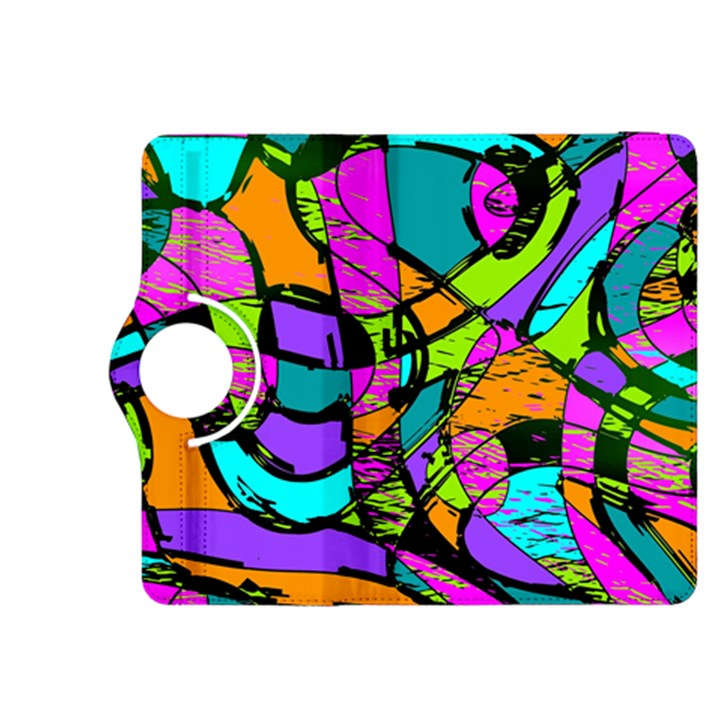 Abstract Sketch Art Squiggly Loops Multicolored Kindle Fire HDX 8.9  Flip 360 Case