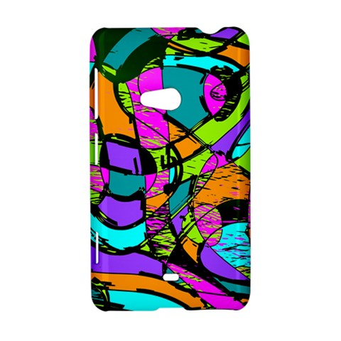 Abstract Sketch Art Squiggly Loops Multicolored Nokia Lumia 625