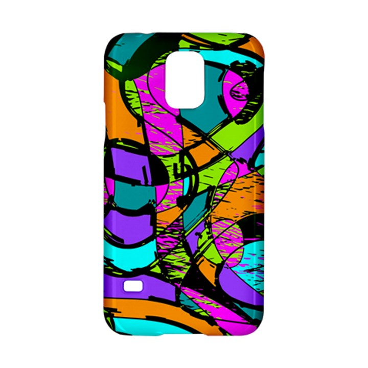 Abstract Sketch Art Squiggly Loops Multicolored Samsung Galaxy S5 Hardshell Case