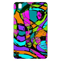 Abstract Sketch Art Squiggly Loops Multicolored Samsung Galaxy Tab Pro 8 4 Hardshell Case