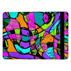 Abstract Sketch Art Squiggly Loops Multicolored Samsung Galaxy Tab Pro 12 2  Flip Case