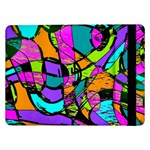 Abstract Sketch Art Squiggly Loops Multicolored Samsung Galaxy Tab Pro 12.2  Flip Case Front
