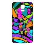 Abstract Sketch Art Squiggly Loops Multicolored Samsung Galaxy S5 Back Case (White) Front