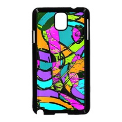 Abstract Sketch Art Squiggly Loops Multicolored Samsung Galaxy Note 3 Neo Hardshell Case (Black)
