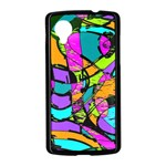 Abstract Sketch Art Squiggly Loops Multicolored Nexus 5 Case (Black) Front