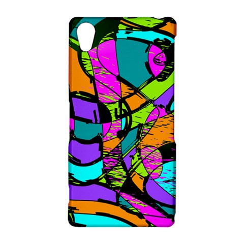 Abstract Sketch Art Squiggly Loops Multicolored Sony Xperia Z2