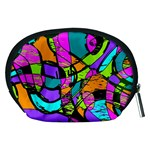 Abstract Sketch Art Squiggly Loops Multicolored Accessory Pouches (Medium)  Back