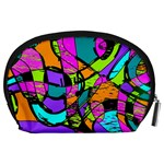 Abstract Sketch Art Squiggly Loops Multicolored Accessory Pouches (Large)  Back