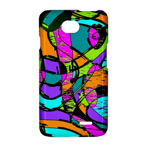 Abstract Sketch Art Squiggly Loops Multicolored LG Optimus L70