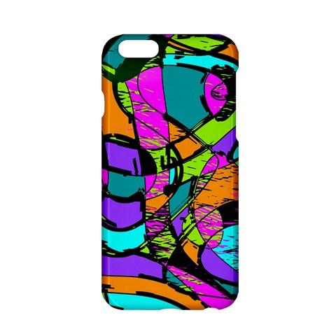 Abstract Sketch Art Squiggly Loops Multicolored Apple iPhone 6/6S Hardshell Case