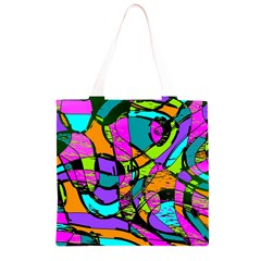 Abstract Sketch Art Squiggly Loops Multicolored Grocery Light Tote Bag