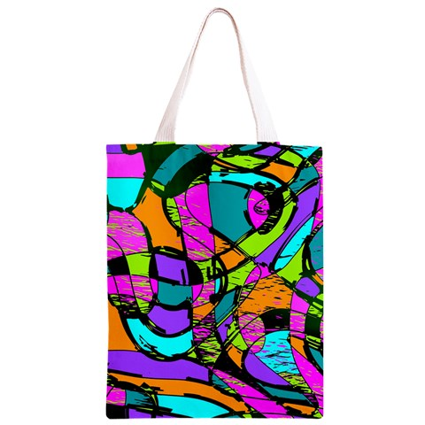 Abstract Sketch Art Squiggly Loops Multicolored Classic Light Tote Bag