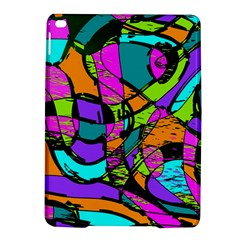 Abstract Sketch Art Squiggly Loops Multicolored iPad Air 2 Hardshell Cases
