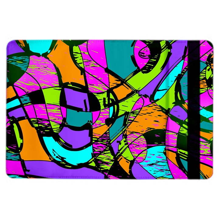 Abstract Sketch Art Squiggly Loops Multicolored iPad Air 2 Flip