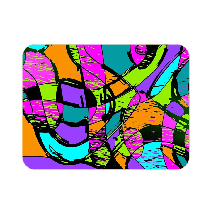 Abstract Sketch Art Squiggly Loops Multicolored Double Sided Flano Blanket (Mini)