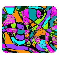 Abstract Sketch Art Squiggly Loops Multicolored Double Sided Flano Blanket (small)