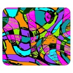 Abstract Sketch Art Squiggly Loops Multicolored Double Sided Flano Blanket (Small)  50 x40 Blanket Back