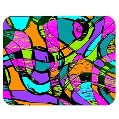 Abstract Sketch Art Squiggly Loops Multicolored Double Sided Flano Blanket (Medium)