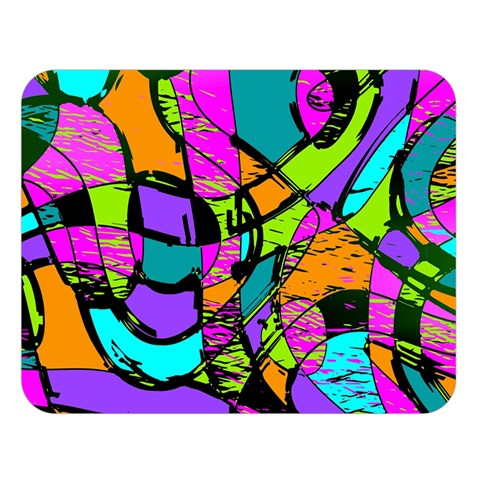 Abstract Sketch Art Squiggly Loops Multicolored Double Sided Flano Blanket (Large)