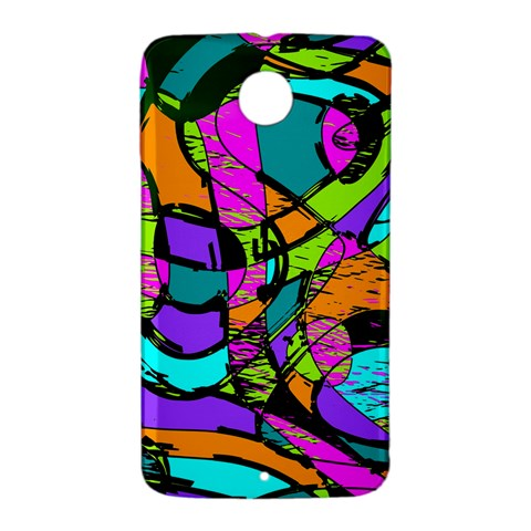 Abstract Sketch Art Squiggly Loops Multicolored Nexus 6 Case (White)