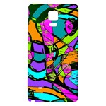 Abstract Sketch Art Squiggly Loops Multicolored Galaxy Note 4 Back Case Front