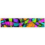 Abstract Sketch Art Squiggly Loops Multicolored Flano Scarf (Small) Back