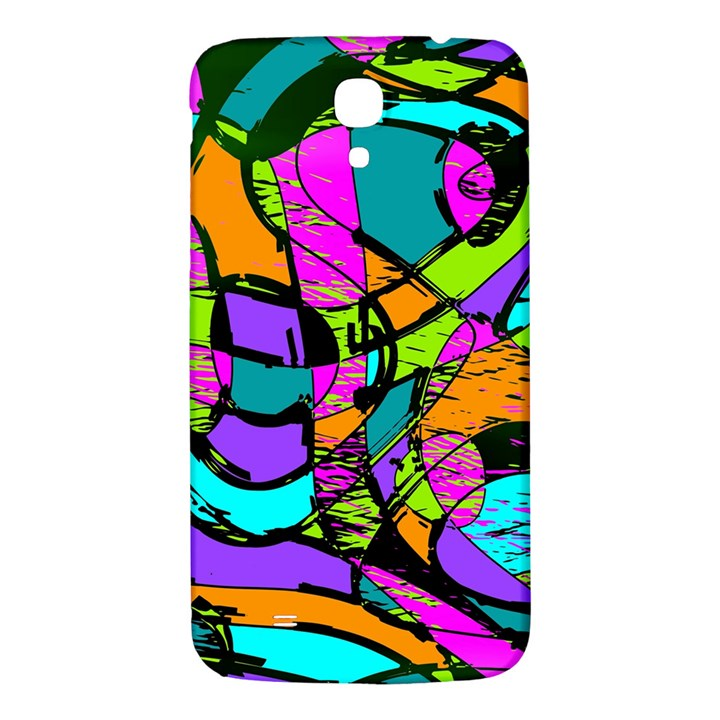 Abstract Sketch Art Squiggly Loops Multicolored Samsung Galaxy Mega I9200 Hardshell Back Case