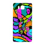 Abstract Sketch Art Squiggly Loops Multicolored Samsung Galaxy Alpha Hardshell Back Case Front
