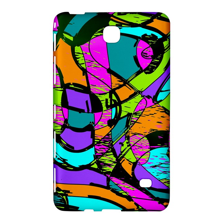 Abstract Sketch Art Squiggly Loops Multicolored Samsung Galaxy Tab 4 (7 ) Hardshell Case