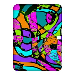 Abstract Sketch Art Squiggly Loops Multicolored Samsung Galaxy Tab 4 (10.1 ) Hardshell Case