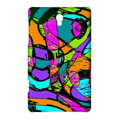 Abstract Sketch Art Squiggly Loops Multicolored Samsung Galaxy Tab S (8.4 ) Hardshell Case