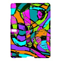 Abstract Sketch Art Squiggly Loops Multicolored Samsung Galaxy Tab S (10 5 ) Hardshell Case