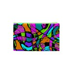 Abstract Sketch Art Squiggly Loops Multicolored Cosmetic Bag (XS) Back